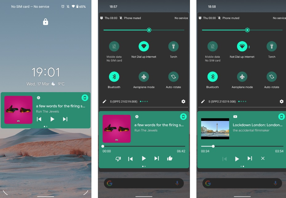 Notification Panel and New Media player UI