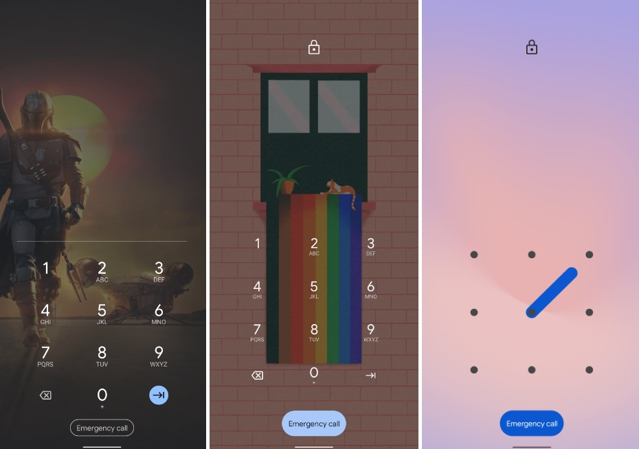 Android 12 new Home screen Pattern Preview