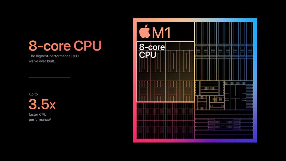 Apple Silicon M1 chip CPU performance