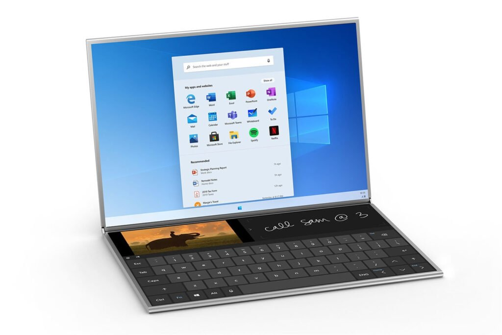 Microsoft Notebook Laptop with touch keyboard with windows 10x