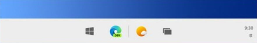 Microsoft windows 10x new taskbar improvement such as Unlike icons in Windows 10 that align to the left