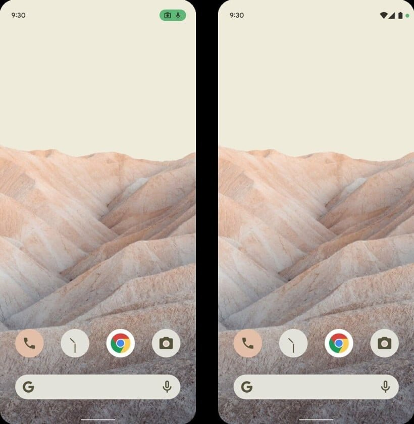 Android 12 widget section