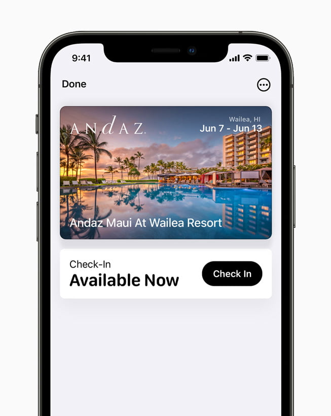 Home and hotel keys and ID cards can now be put in the Wallet App, and daily locations can be unlocked with a single tap.