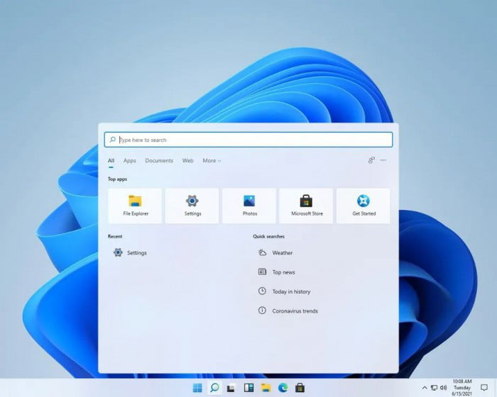Windows 10 New Search Interface