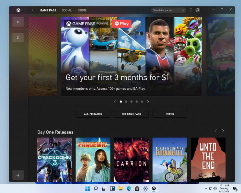 New Xbox Games Store Customized Ui for Windows 11