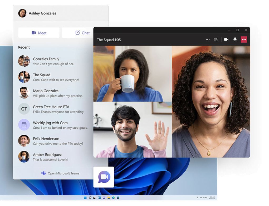 Microsoft Teams directly into Windows 11 for consumers and business users