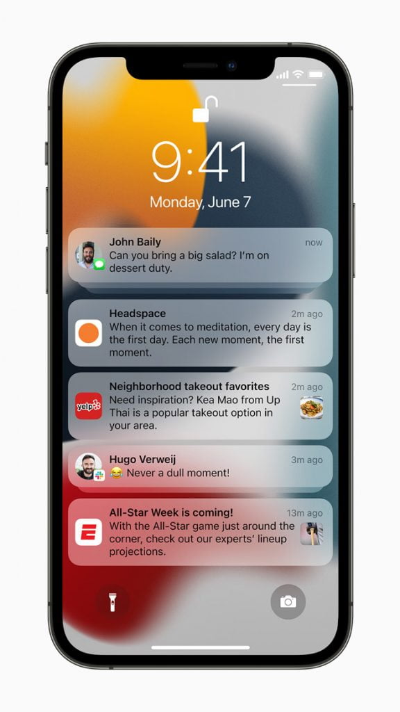 At Apple WWDC 2021, New notification Experience in WWDC 2021