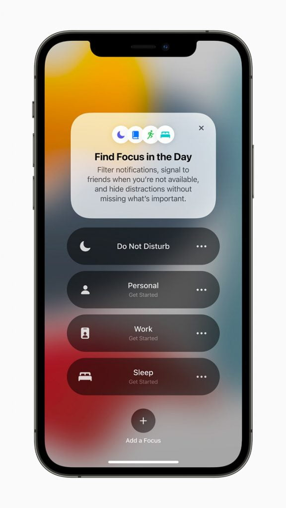 At Apple WWDC 2021,  : Tools To stay Focused