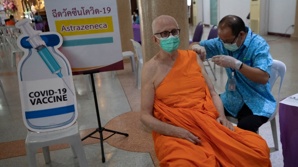 Thailand, is vaccinating Buddhists