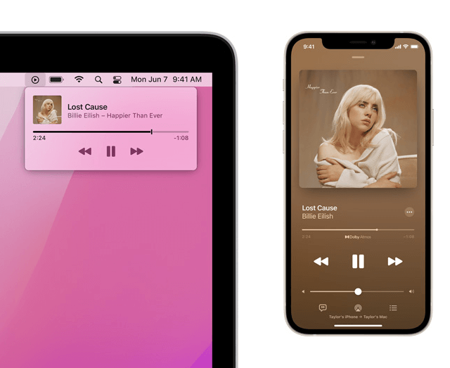 Airplay speaker play music or podcasts from another device