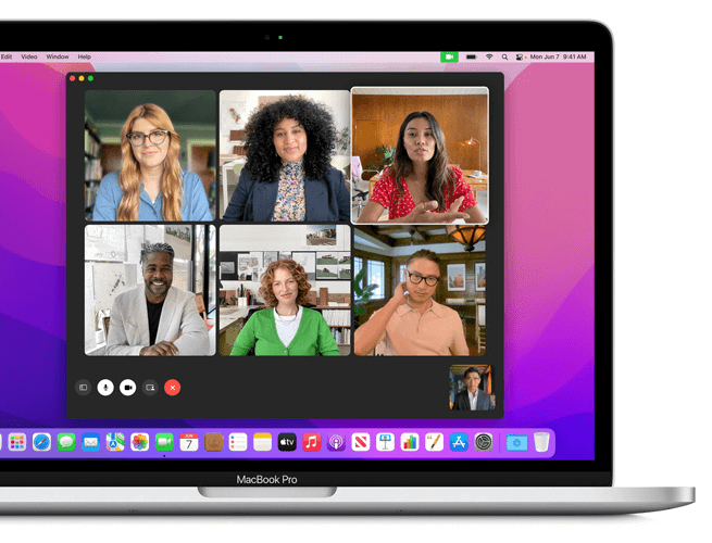 facetime screen sharing on the grid view 2