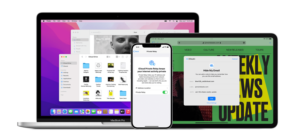 iCloud plus hide my email or private relay