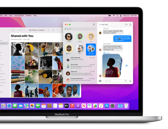 macOS Monterey share with you eature